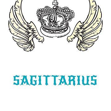 King Sagittarius Wings Zodiac Signs by gcruz1028