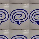 #target, #symbol, #business, #internet, #email, #blue, #circle, #white, #sign, #3d, #mail, #button, #icon, #web, #isolated, #spiral by znamenski