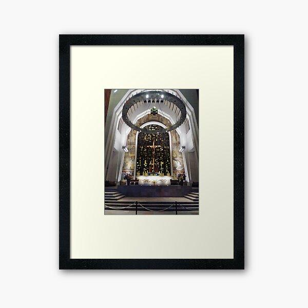 Saint Joseph's Oratory of Mount Royal, Montreal #Montreal #City #MontrealCity #Canada #SaintJoseph #Oratory #Mount #Royal #MountRoyal #buildings #streets #places #views #pedestrians #architecture Framed Art Print