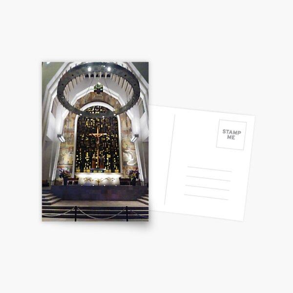 Saint Joseph's Oratory of Mount Royal, Montreal #Montreal #City #MontrealCity #Canada #SaintJoseph #Oratory #Mount #Royal #MountRoyal #buildings #streets #places #views #pedestrians #architecture Postcard