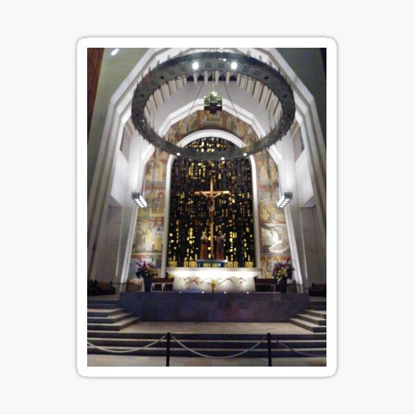 Saint Joseph's Oratory of Mount Royal, Montreal #Montreal #City #MontrealCity #Canada #SaintJoseph #Oratory #Mount #Royal #MountRoyal #buildings #streets #places #views #pedestrians #architecture Sticker