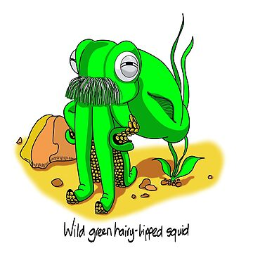 Wild Green Hairy Lipped Squid #3 by MALC-OLM