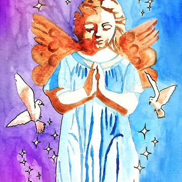 Praying Angel by savesarah