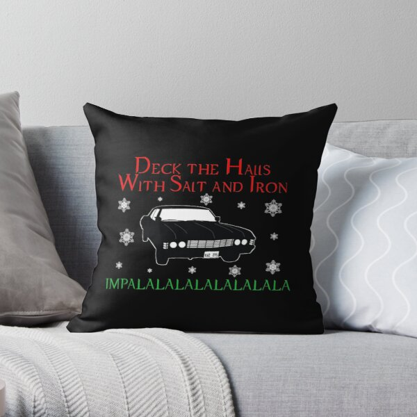 Deck the halls (SPN Style) Throw Pillow