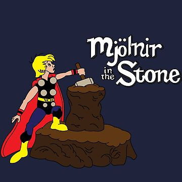 Mjolnir in the Stone (Comic Version) by leidemera