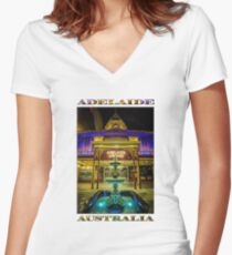 Adelaide Arcade Facade (poster edition) Women's Fitted V-Neck T-Shirt