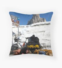 The Pass, Italian Dolomites Throw Pillow