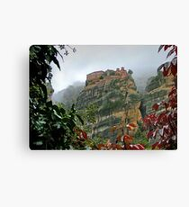 Meteora Monastery World Heritage Site Canvas Print