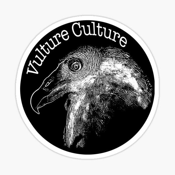 Vulture Culture Black & White  Sticker