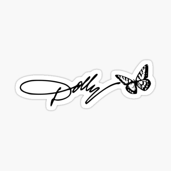 dolly signature Sticker