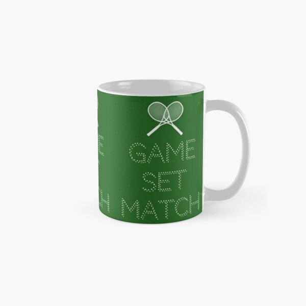 Cool Tennis Player, Coach, Tennis Mom, Dad Design   Game, Set, Match Classic Mug