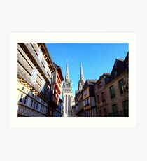cathedral in Quimper Impression artistique