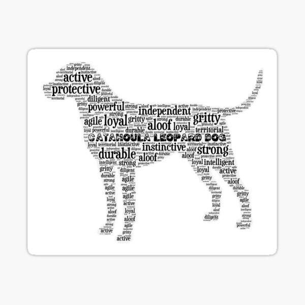 Catahoula Leopard Dog Traits Sticker