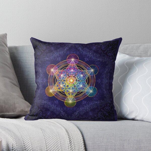 Metatron's Cube Merkabah Throw Pillow