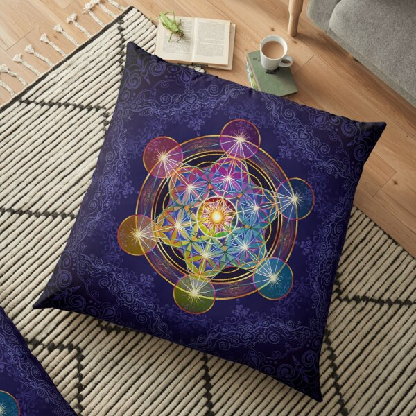 Metatron's Cube Merkabah Floor Pillow