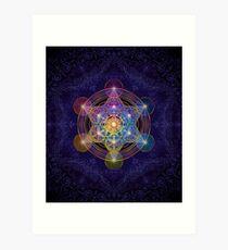 Metatron's Cube Merkabah Art Print