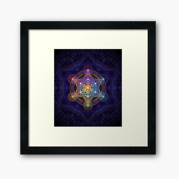 Metatron's Cube Merkabah Framed Art Print