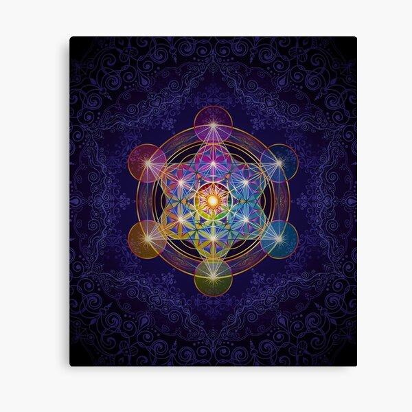 Metatron's Cube Merkabah Canvas Print