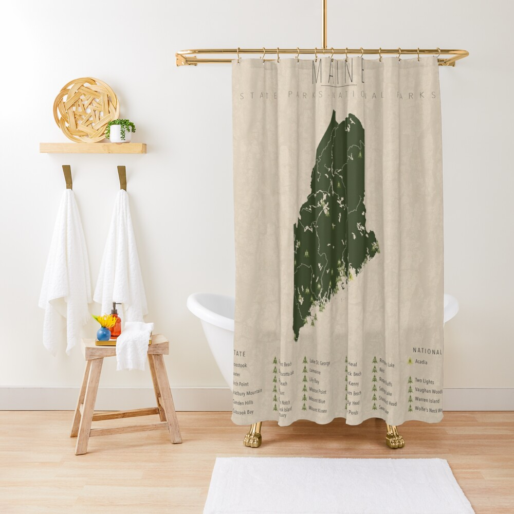 Maine Parks Shower Curtain