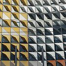 Yellow and Grey Triangles by Joan Wild