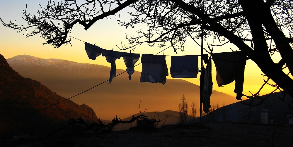 Underpant sunset, Spain by Fin Gypsy