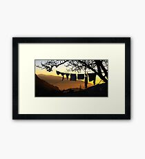 Underpant sunset, Spain Framed Print
