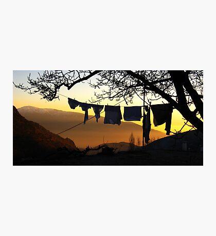 Underpant sunset, Spain Photographic Print