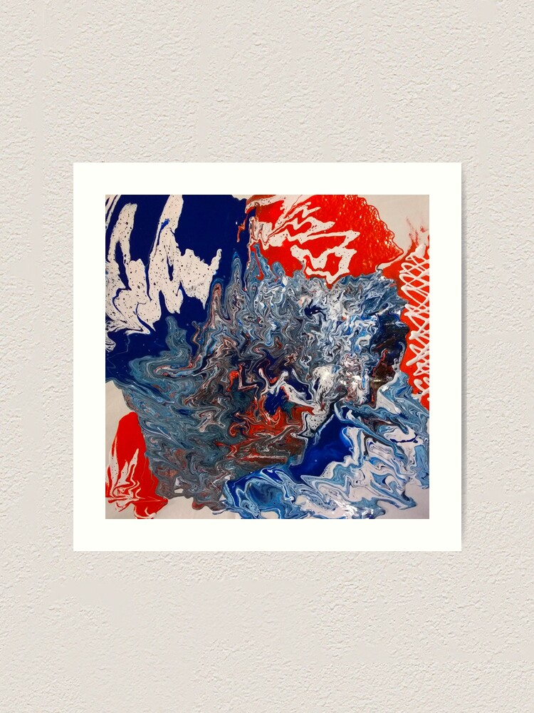 "Alternate view of  Abstract Painting- ""British Rocker""  Art Print"
