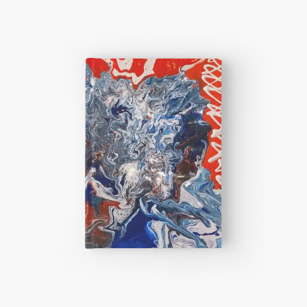 """Abstract Painting- """"British Rocker""""  Hardcover Journal"""