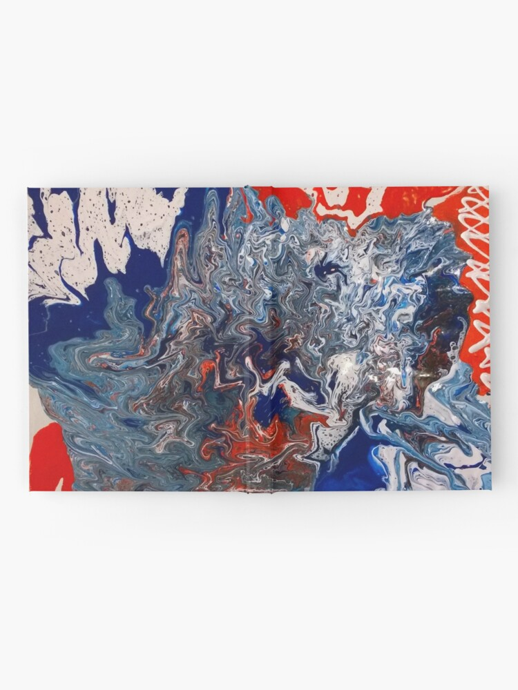 """Alternate view of  Abstract Painting- """"British Rocker""""  Hardcover Journal"""