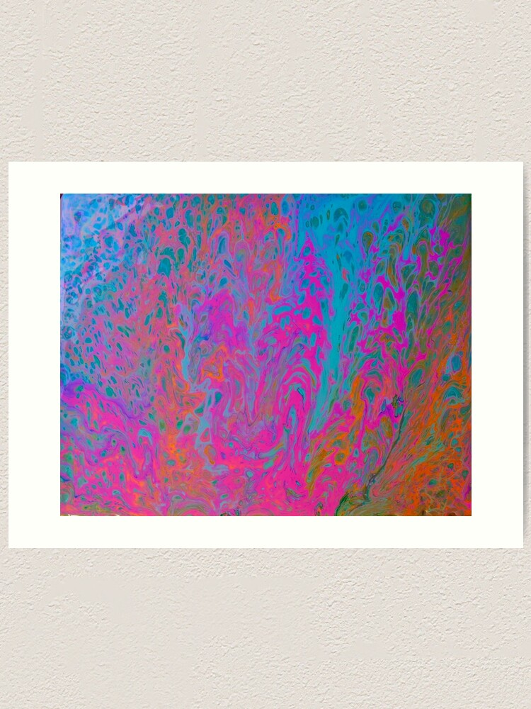 "Alternate view of  Abstract Painting-""Pop Art Bark""  Art Print"