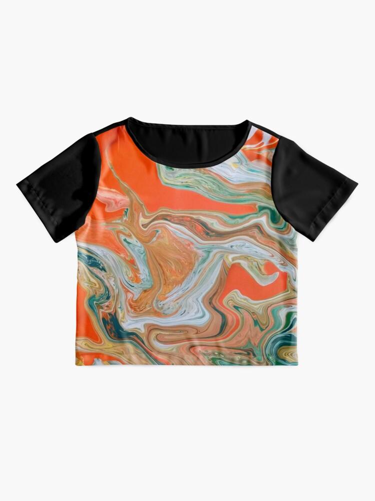 "Alternate view of Abstract Art- Title ""Orange Granite"" Chiffon Top"