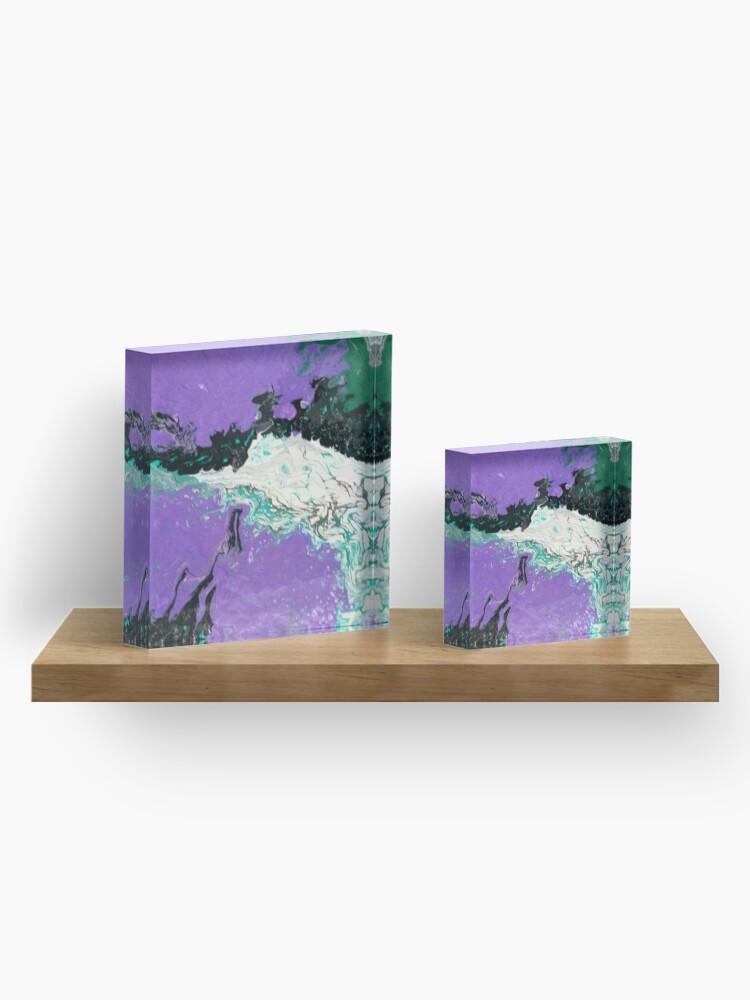"Alternate view of Abstract Painting-""Mardi Gras"" Acrylic Block"
