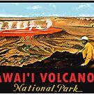 Hawaii Volcanoes National Park Vintage Travel Decal by hilda74