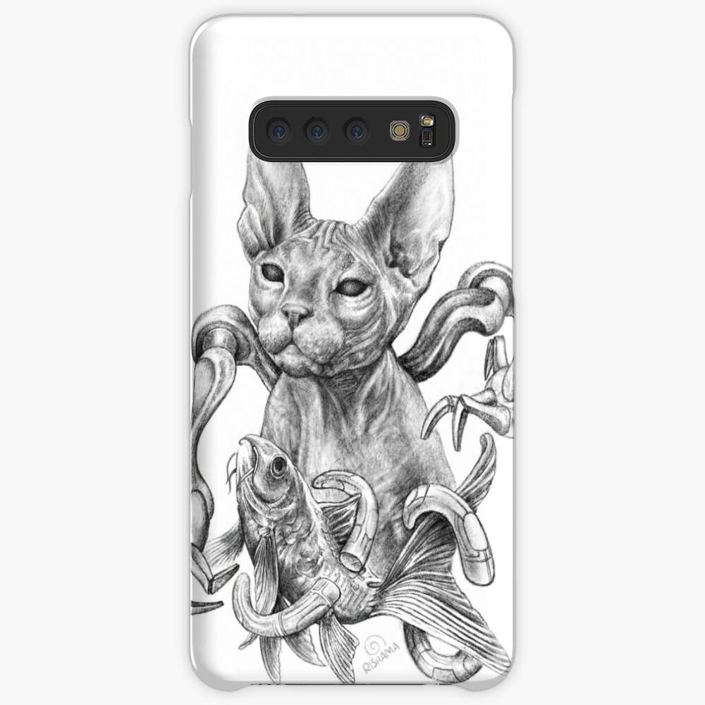 Kitsune Cat Tattoo Samsung S10 Case