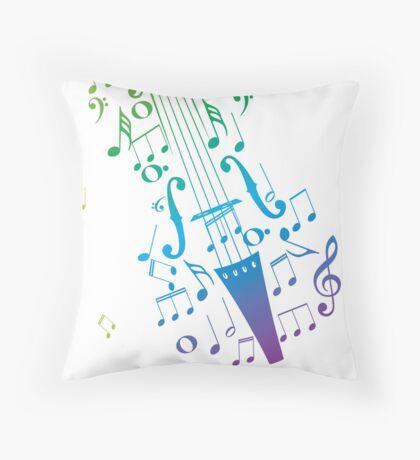 Violine mit Noten 3 Dekokissen