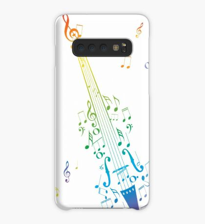 Violine mit Noten 3 Hülle & Klebefolie für Samsung Galaxy