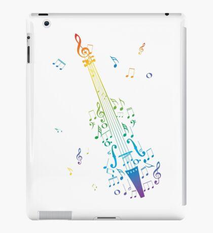 Violine mit Noten 3 iPad-Hülle & Klebefolie