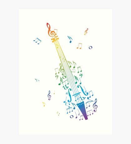 Violine mit Noten 3 Kunstdruck