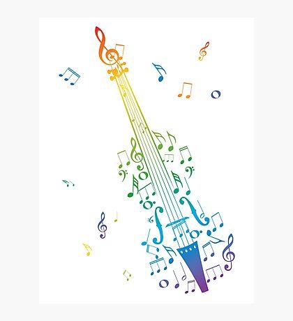 Violine mit Noten 3 Fotodruck