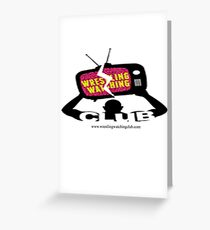 Wrestling Watching Club Logo Greeting Card