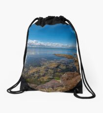 Beaumaris Bay Rocky Shore Drawstring Bag
