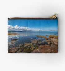 Beaumaris Bay Rocky Shore Zipper Pouch