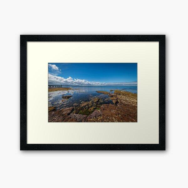 Beaumaris Bay Rocky Shore Framed Art Print