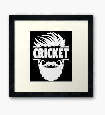 Cricket Batsman - Cricket Picture - Cricket Ball - Father Cricket Gift - Cricket Teacher - Cricket Print - Cricket Dad Gift - Cricket Poster Framed Print