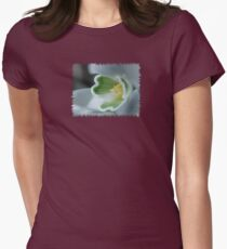 Found a SnowDrop in my Garden Today  - JUSTART © Womens Fitted T-Shirt