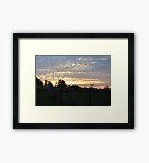 Sunrise 2-10/22/09 Framed Print