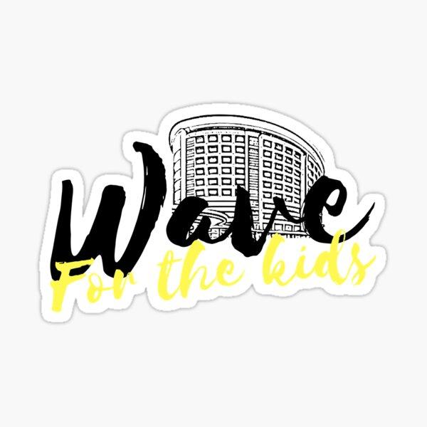 U of Iowa Wave For The Kids-Helping Children's Hospital Sticker