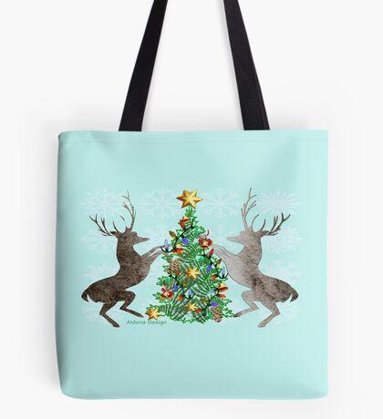2 Reindeer (739 Views) Tote Bag