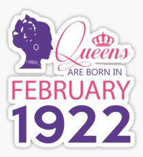 It's My Birthday 96. Made In February 1922. 1922 Gift Ideas. Sticker